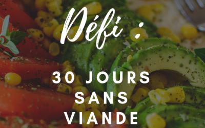 30 jours sans viande