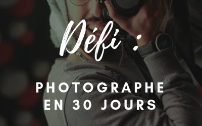 Photographe en 30 jours