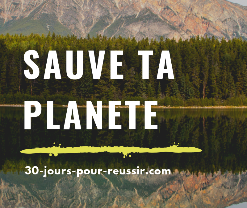 Sauve ta planète : en seulement 1 mois