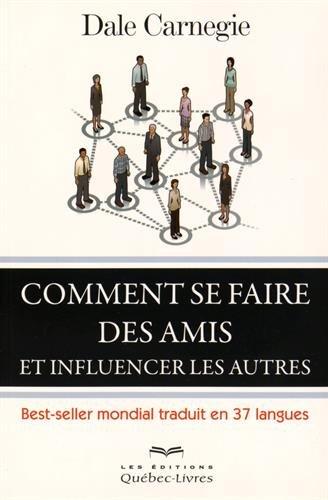 Couverture du livre de développement personnel : comment se faire des amis et influencer les autres