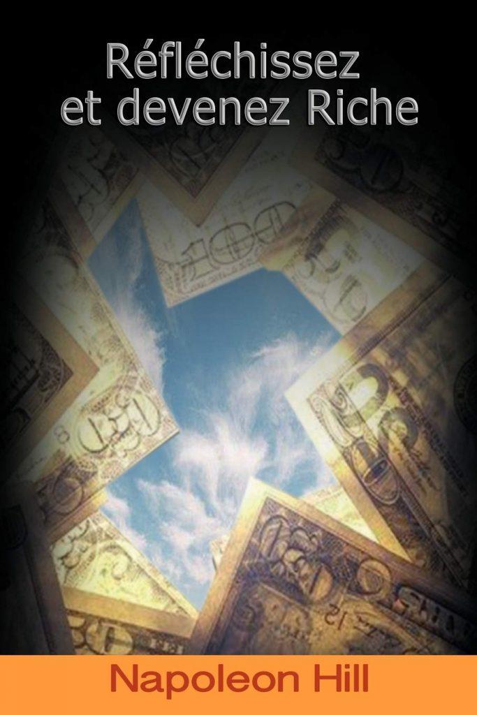 Couverture du livre de développement personnel : réfléchissez et devenez riches