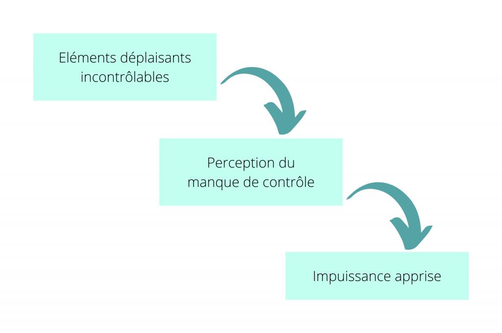 Schéma de l'impuissance apprise développée par les informations traditionnelles